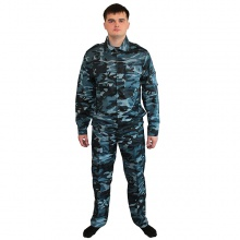 Костюм синий камуфляж Охрана