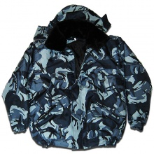Куртка утепленна зимняя болонь синяя кукла