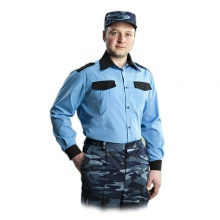 Рубашка Охрана голубая