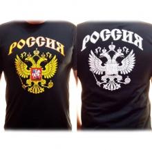 Футболка Россия двуглавый орел черная