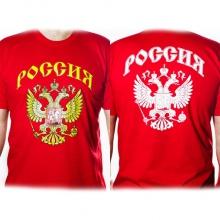 Футболка Россия двуглавый орел красная