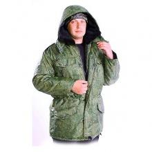 Куртка зимняя прямая цифра болонь